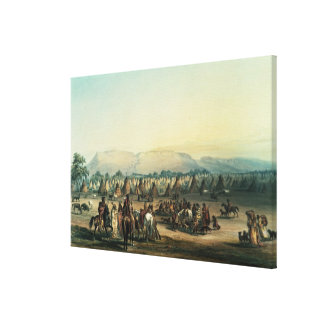 Camp of Piekann Indians Canvas Print