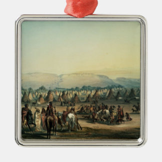 Camp of Piekann Indians Christmas Ornament