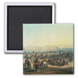 Camp of Piekann Indians Magnet