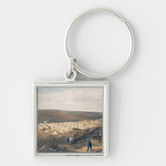 Camp of the Naval Brigade, plate from 'The Seat of Silver-Colored Square Key Ring