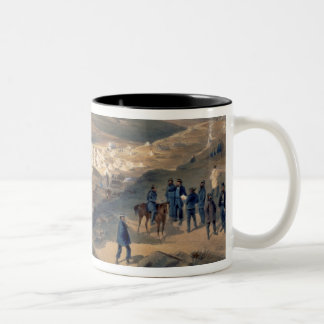 Camp of the Naval Brigade, plate from 'The Seat of Two-Tone Coffee Mug