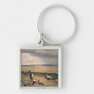 Camp of the Third Division, plate from 'The Seat o Silver-Colored Square Key Ring