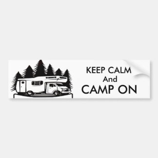 Camp On Bumper Sticker