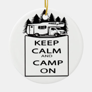 Camp On Collection Round Ceramic Decoration