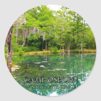 CAMP OSBORN - Worth County, Georgia Classic Round Sticker