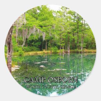 CAMP OSBORN - Worth County, Georgia Round Sticker