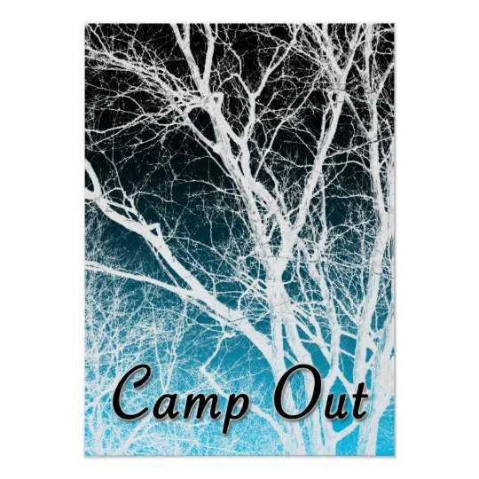 camp out : ghost tree poster