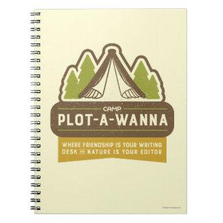 Camp Plot-A-Wanna Notebooks