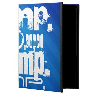 Camp; Royal Blue Stripes iPad Air Cover
