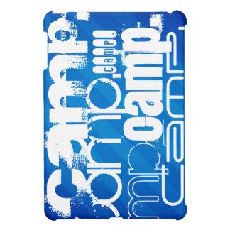 Camp; Royal Blue Stripes iPad Mini Cover