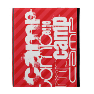 Camp; Scarlet Red Stripes iPad Case