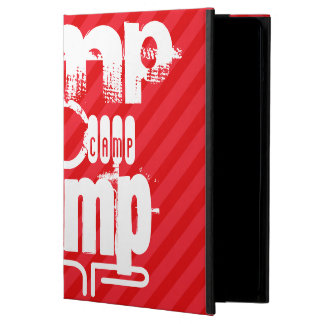 Camp; Scarlet Red Stripes Cover For iPad Air