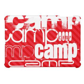 Camp; Scarlet Red Stripes iPad Mini Cases