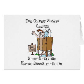 Camp Shower Greeting Card