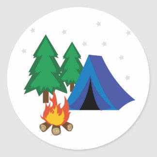 Camp Site Classic Round Sticker