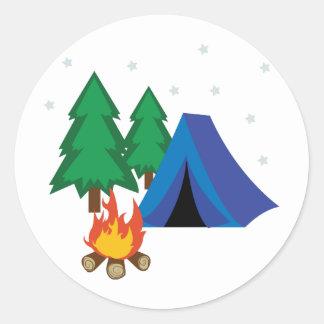 Camp Site Round Sticker