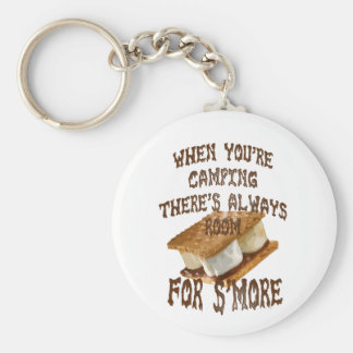 Camp Smores Basic Round Button Key Ring