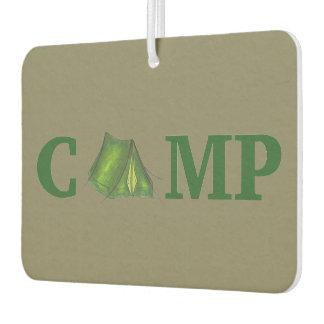 CAMP Summer Camping Green Tent Outdoors Camper Car Air Freshener
