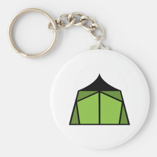 Camp Tent Basic Round Button Key Ring
