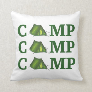 CAMP Tent Summer Camping Hiking Outdoors Pillow