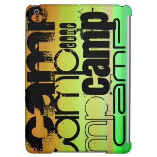Camp; Vibrant Green, Orange, & Yellow iPad Air Case