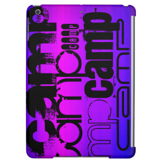 Camp; Vibrant Violet Blue and Magenta. iPad Air Covers