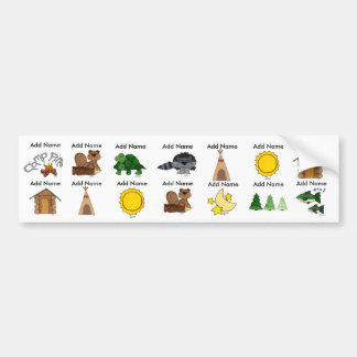 Camp Waterproof Sippy Cup Labels Bumper Stickers