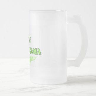 Camp Zama Design Green Frosted Glass Mug