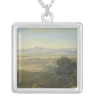 Campagna Landscape Silver Plated Necklace