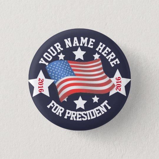 Campaign Button w/ Flag