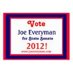 Campaign Candidate 2012 Calendar Card