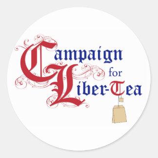 Campaign for Liber-Tea Classic Round Sticker
