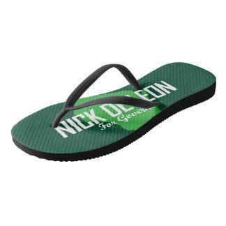 Campaign logo flip flops
