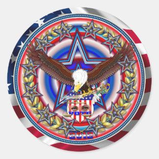 Campaign PAC Fundraiser Sticker Round