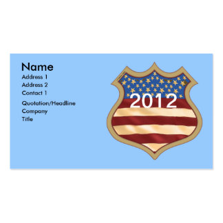 Campaign Shield Pack Of Standard Business Cards