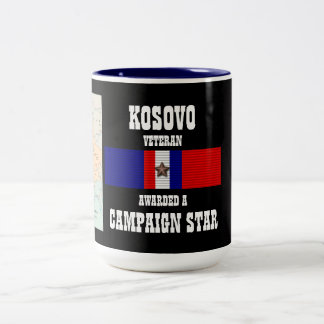 CAMPAIGN STAR KOSOVO VETERAN Two-Tone COFFEE MUG