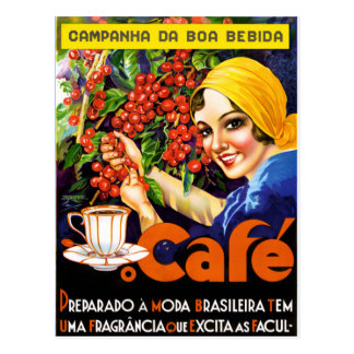 Campanha Da Boa Bebida Coffee Vintage Ad Poster Postcard
