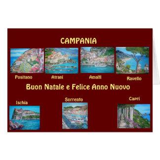 Campania, Italy - Christmas Card