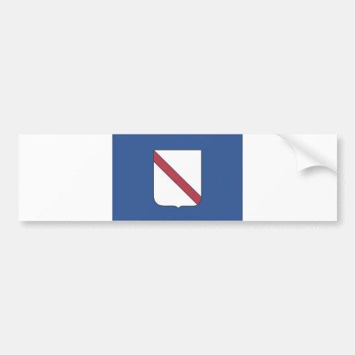 Campania region flag italy county bumper sticker