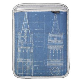 Campanile Blueprint Sleeve For iPads