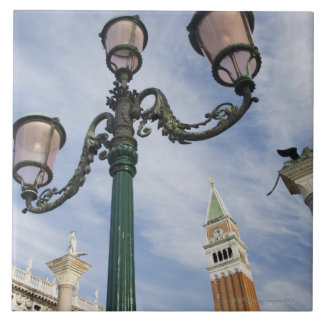 Campanile in the Piazza San Marco Venice Italy Tile