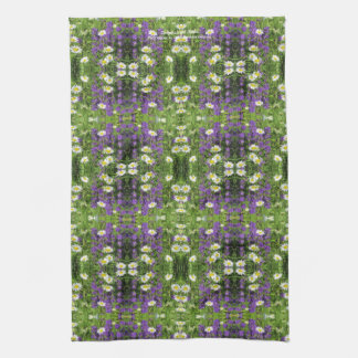 Campanula and Daisies Tea Towel