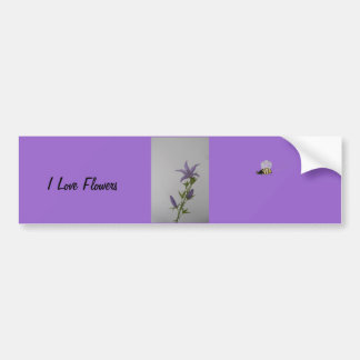 Campanula Flower Bumper Sticker