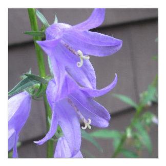 Campanula Garden Flower 5.25x5.25 Square Paper Invitation Card