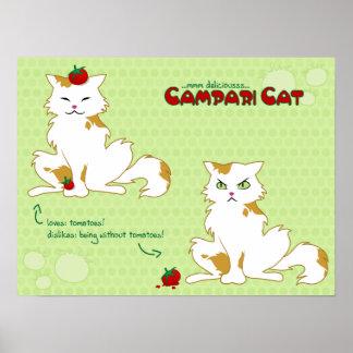 Campari Cat Poster