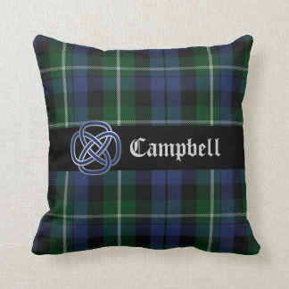 Campbell Blue and Green Tartan Plaid Pillow