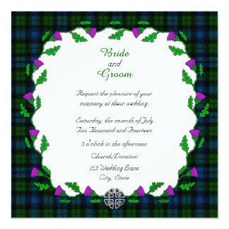 Campbell Celtic Wedding Card