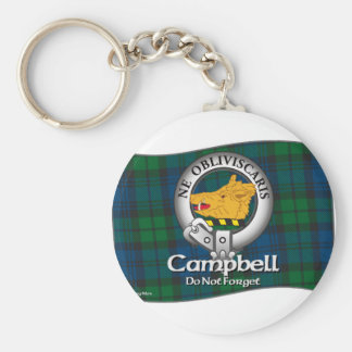 Campbell Clan Basic Round Button Key Ring