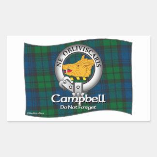 Campbell Clan Rectangular Sticker