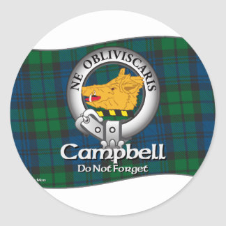 Campbell Clan Round Sticker
